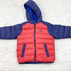 Snozu Red and Blue Snow Fleece Jacket Hooded 3T